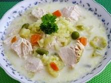 zupa jarzynowa z kurczakiem...