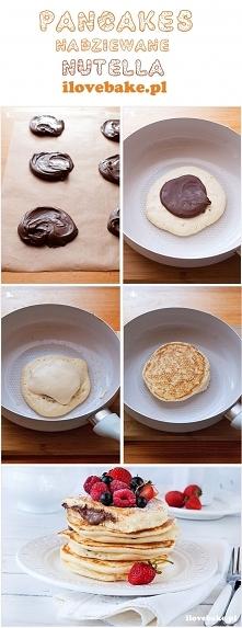 Pancakes nadziewane nutellą