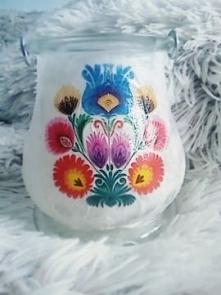 świecznik/lampion łowicki ręcznie wykonany - zapraszam do zakupu. cena - 25 zl