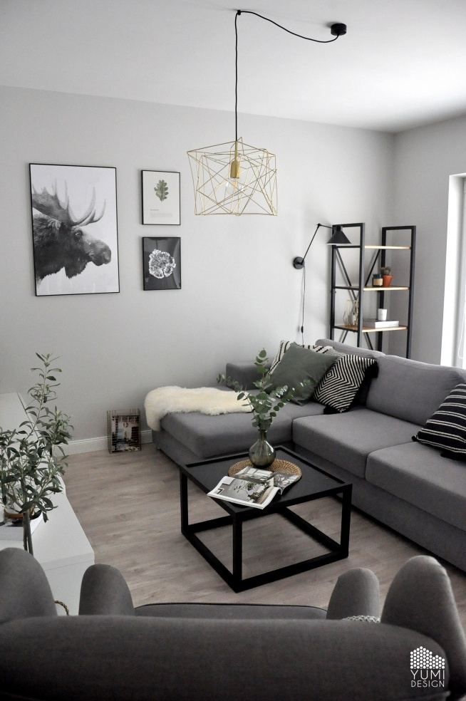 "Projekt salonu ""COLORS OF GREY"" by Yumi Design"