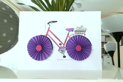 Tutorial prezentujący sposób tworzenia rewelacyjnej pracy plastycznej z rowerem w roli głównej! :)