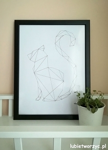 Geometryczny kot - obraz DI...