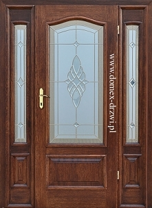 drzwi z witrażem