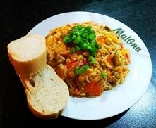 Pyszny ryż z warzywami, najlepszy na kolację we dwoje :)