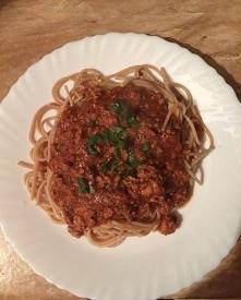 moja zdrowsza wersja spaghetti :)