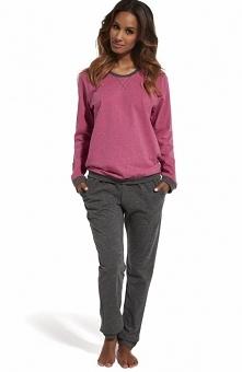 Cornette Holly 2 634/131 piżama Świetna dwuczęściowa piżama damska, doskonała propozycja również jako domowy dres, bluzka z długim rękawem