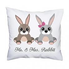 Poduszka Mr. & Mrs. Rabbit