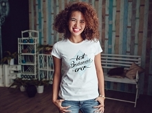 "Damski t-shirt z nadrukiem - ""best Bridesmaid ever"""