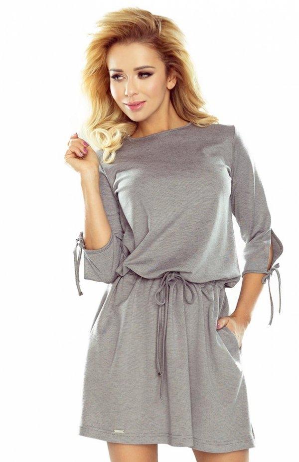 3481f2cdba Numoco 176-1 sukienka szara Świetna sukienka wykonana z jednoli.. na ...