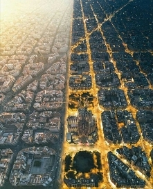 Barcelona za dnia i w nocy