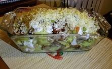 Ziemniaczana zapiekanka z sosem czosnkowym