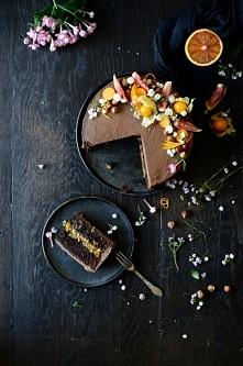 Ciasto czekoladowe pomarańc...