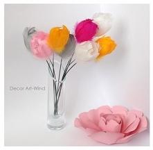 tulipany z piórek 1szt.4zł