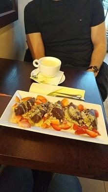 Pijalnia czekolady E.Wedel i ich wyśmienite pierogi czekoladowe z twarożkiem,...