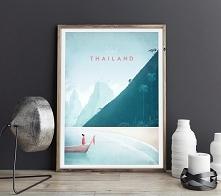 Tajlandia - vintage plakat A2