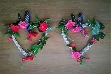 diy: jak ozdobić wiklinowe serce kwiatami?