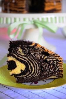 """Ciasto """"Zebra""""      12 porcje 30min   5 jajek L ( Białka i żółtka oddzie..."""