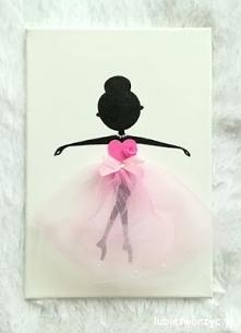 Tutorial ukazujący sposób tworzenia przepięknego obrazu z motywem baletnicy :)