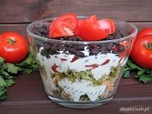 """Warzywna sałatka z kolorowym makaronem   """" Idealna na kolację oraz spotk..."""