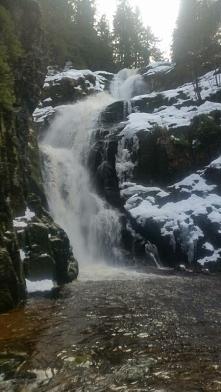 Wodospad Kamieńczyka zimą. Piękne miejsce!