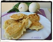 Racuchy z białej rzepy - White Turnip Pancakes - Rape bianche in pastella