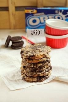 Ciasteczka sernikowe z oreo – Oreo cheesecake cookies.