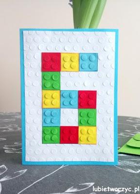 Śliczna kartka urodzinowa z motywem klocków LEGO ;)
