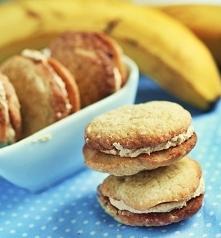 ciasteczka bananowe z masłe...