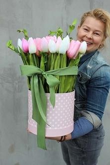 flower boxy z tulipanami - ...