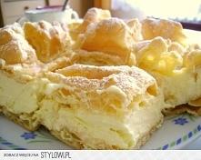 Karpatka  Ciasto parzone:  1 szklanka wody 150g margaryny 1 szklanka mąki psz...