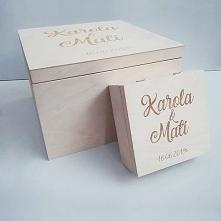 Pudełko na koperty i obrączki