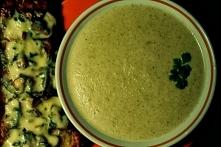 Zupa krem z porów oraz brus...