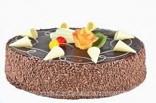 Tort migdałowy z polewą