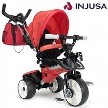 Bezpieczny rowerek trójkołowy renomowanej hiszpańskiej firmy INJUSA. Komfortowy prezent na każdą okazję zarówno dla maluszka jak i dla rodziców. Aluminiowa rama. Torba w zestawi...