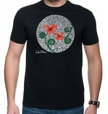 Czerwone kwiaty - t-shirt - różne kolory