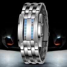 Nietuzinkowy Zegarek LED.  Zegarek posiada DWA NIEZALEŻNE CZASY. MECHANIZM: K...