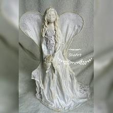 Anioł zimna porcelana oraz ...