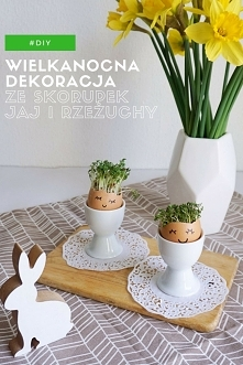 Zrób to sam - wielkanocne dekoracje ze skorupek jaj i rzeżuchy - inspiracje n...