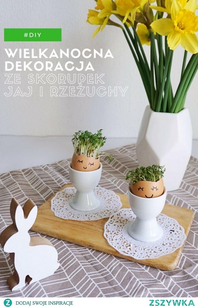 Zrób To Sam Wielkanocne Dekoracje Ze Skorupek Jaj I Rzeżuchy Na
