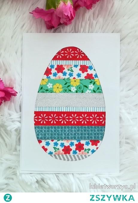 Tutorial ukazujący sposób tworzenia karteczki wielkanocnej z motywem jajka ;)