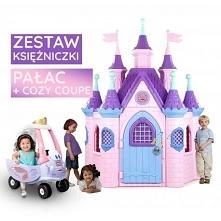 Zestaw FEBER Ogromny pałac księżniczki Super Palace + Samochód wróżki Cozy Coupe Little Tikes auto