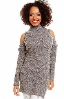 PeekaBoo 30040 sweter szary Kobiecy sweter damski, wykonany z ciepłej i miękk...