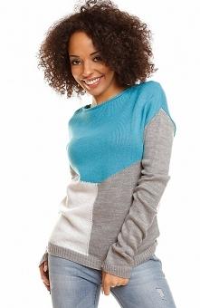 PeekaBoo 30042 sweter turkusowy Wygodny i modny sweter, wykonany z komfortowe...