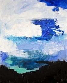 """""""Abstrakcja"""" obraz namalowany farbami akrylowymi przez artystkę plastyka Adrianę Laube na płótnie 100x80cm. Obraz naciągnięty na blejtram, sygnowany."""