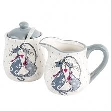 Ceramiczny dzbanuszek do mleka i cukierniczka ;)