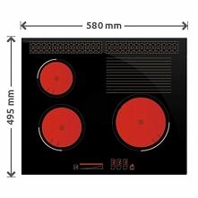 Innowacyjna płyta gazowa z palnikami pod szkłem wersja SOLGAZ 3+1