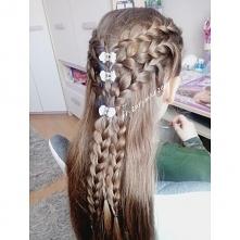 warkocze holenderskie i rozpuszczone włosy