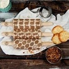 Wielkanoc - Zestaw 3 MINI Wałki do ciasta | Więcej znajdziesz na Okazje.info