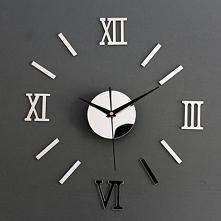 Naklejany zegar ścienny <3