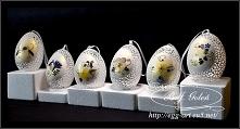 Pisanki suszone kwiaty - egg art Bogusława Justyna Goleń